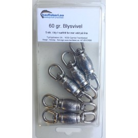 60 grammes Lead / stainless steel - pack of 5