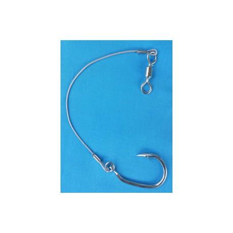 20cm de fil d'acier avec Hameçon et pivot