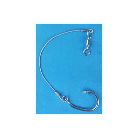 20cm Steel Wire with hook and swivel