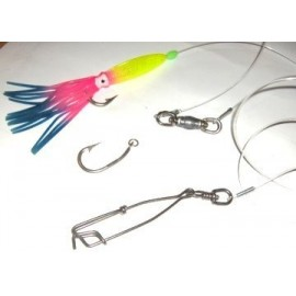 """Complete long line 3.6"""" hook 100mm snap 10 meter snood, floats, lights and squid lures"""